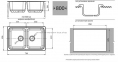 Кухонная мойка GRANFEST Standart GF-S780K иней 0
