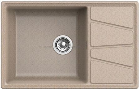 Кухонная мойка GRANFEST Vertex GF-V-780L песочный