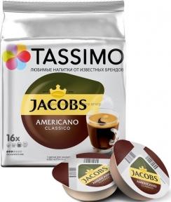 Кофе в капсулах TASSIMO JACOBS Americano Classico 16 шт.