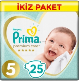 Подгузники PAMPERS Prima Premium Care 5 (11-16 кг), 25 шт.