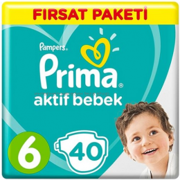 Подгузники PAMPERS Maxi Plus 6 (13-18 кг), 40 шт.