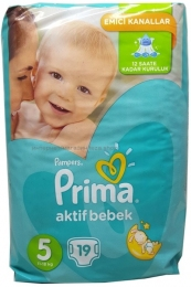 Подгузники PAMPERS Junior 5 (11-18 кг), 19 шт.